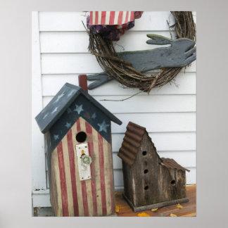 USA, Missouri, Herman: Patriotic Birdhouses, Poster