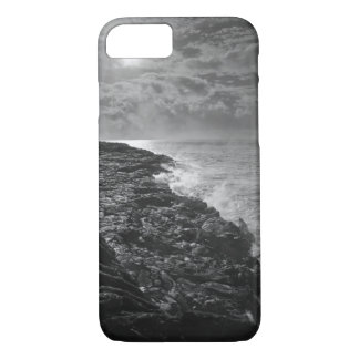 USA. Molten lava flows into the ocean at sunrise iPhone 7 Case