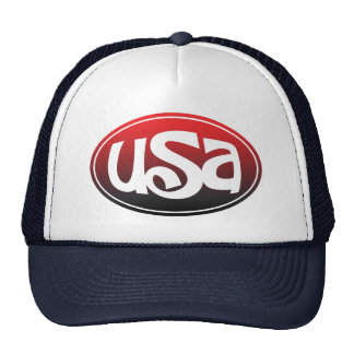 USA Monogram Design Trucker Hat