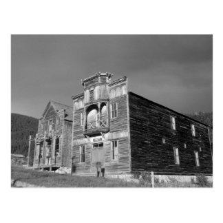 USA, Montana, Elkhorn Fraternity Hall meeting Postcard