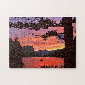 USA, Montana, Glacier National Park. Landscape Jigsaw Puzzle
