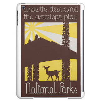 USA National Parks Vintage Poster Restored Cover For iPad Air