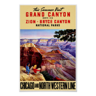 USA National Parks Vintage Travel Poster Restored