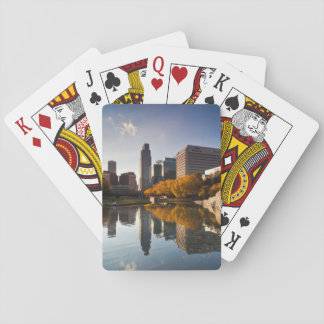 USA, Nebraska, Omaha, Gene Leahy Mall, Skyline Poker Deck