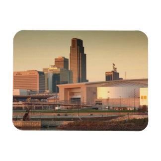 USA, Nebraska, Omaha, Skyline Magnet