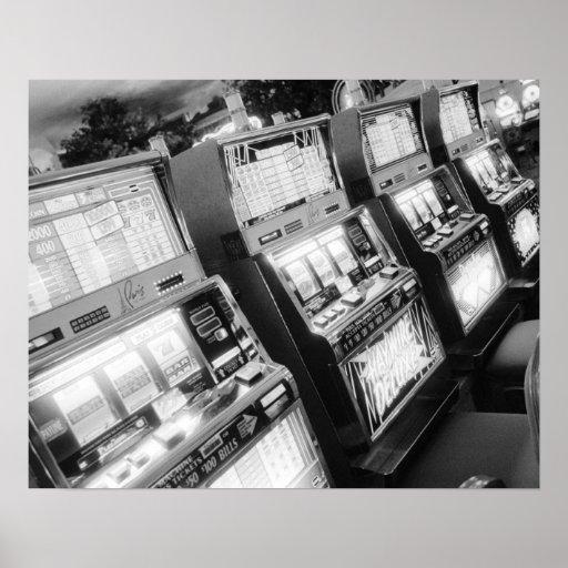 USA, Nevada, Las Vegas: Casino Slot Machines / Print
