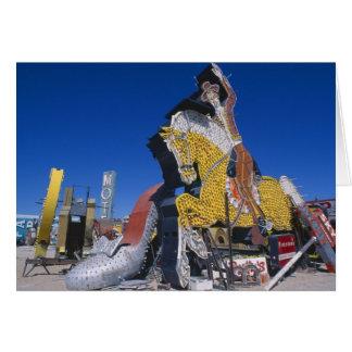 USA, Nevada, Las Vegas, signs in junkyard Card