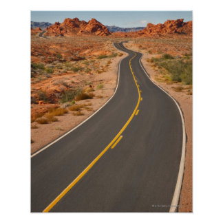 USA, Nevada, Valley of Fire, desert road Poster