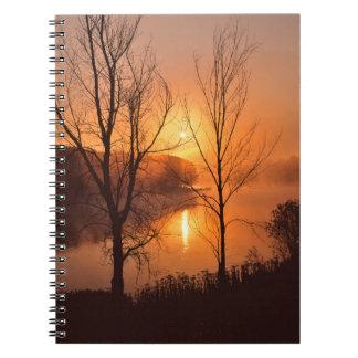 USA, New England, Maine. Autumn Sunrise Notebook