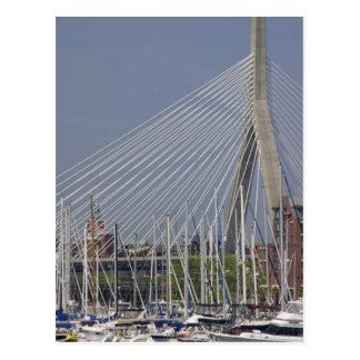 USA, New England, Massachusetts, Boston, boats Postcard