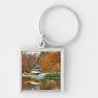 USA, New England, New Hampshire. Float Plane Keychain
