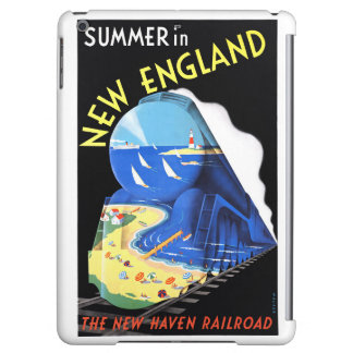USA New England Vintage Travel Poster Restored iPad Air Cases