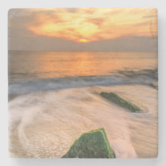 USA, New Jersey, Cape May. Scenic On Cape May 2 Stone Beverage Coaster