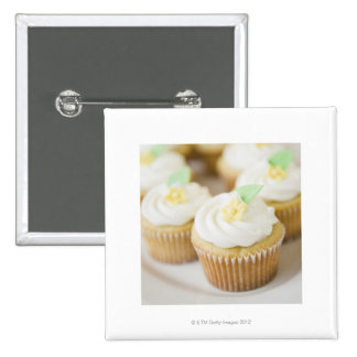 USA, New Jersey, Jersey City, Close up cupcakes 2 Inch Square Button