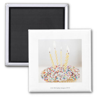 USA, New Jersey, Jersey City, Cupcake with Square Magnet