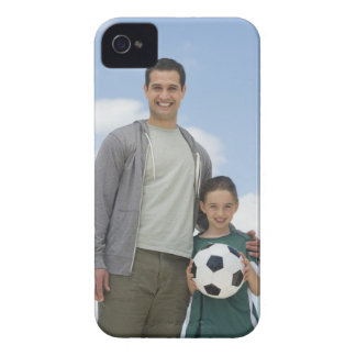 USA, New Jersey, Jersey City, portrait of father iPhone 4 Covers