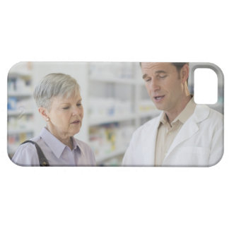 USA, New Jersey, Jersey City, Senior woman iPhone 5 Covers