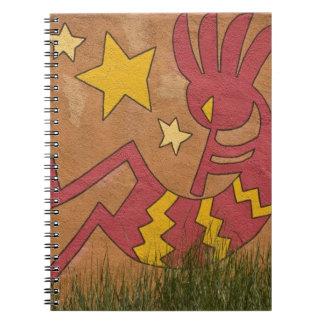 USA, New Mexico, Santa Fe. Wall mural of a Note Books