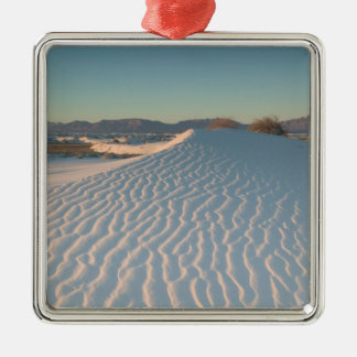 USA, New Mexico, White Sands National Silver-Colored Square Ornament