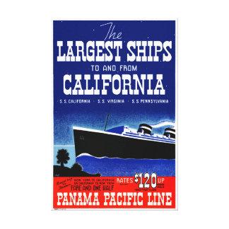 USA New York California Restored Vintage Poster Canvas Print