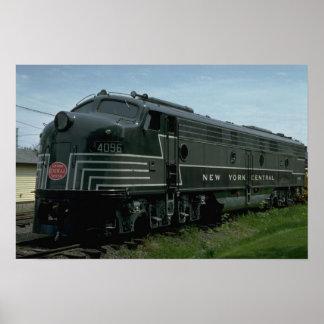 USA, New York Central EMD E8 passenger diesel Poster
