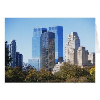USA, New York City, Central Park with skyline Card