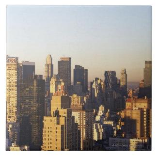 USA, New York City, Manhattan skyline 2 Ceramic Tiles
