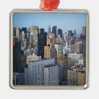 USA, New York City, Manhattan skyline Metal Ornament