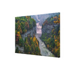 USA, New York, Letchworth State Park. River and Canvas Print