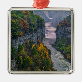 USA, New York, Letchworth State Park. River and Metal Ornament