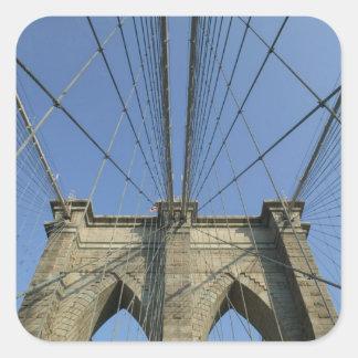 USA, New York, New York City, Brooklyn: 2 Square Sticker