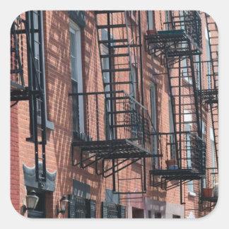 USA, New York, New York City, Brooklyn: Cobble Square Sticker