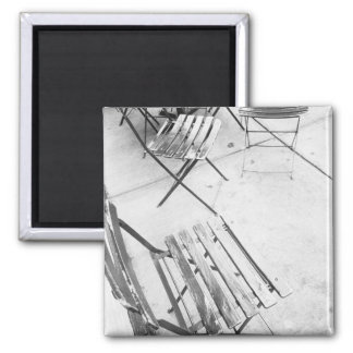 USA, NEW YORK: New York City Cafe Chairs, Square Magnet
