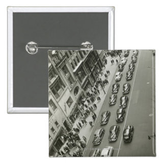 USA New York New York City elevated view 2 Inch Square Button