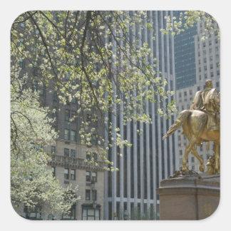 USA, New York, New York City, Manhattan: 16 Square Sticker
