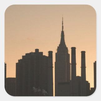 USA, New York, New York City, Manhattan: 23 Square Sticker