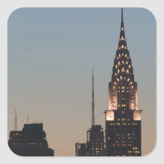 USA, New York, New York City, Manhattan: 3 Square Sticker