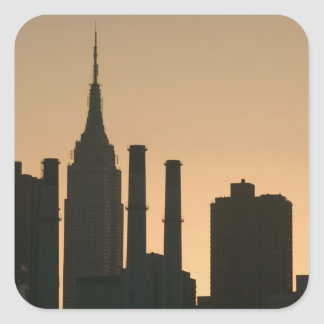 USA, New York, New York City, Manhattan: 6 Square Sticker