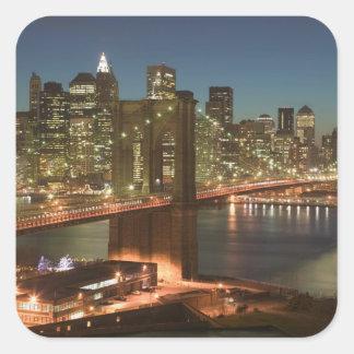 USA, New York, New York City, Manhattan: Square Sticker