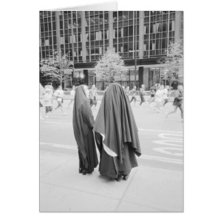 USA, NEW YORK: New York City Nuns Watching NYC Card