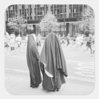 USA, NEW YORK: New York City Nuns Watching NYC Square Sticker