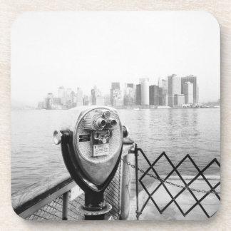 USA, NEW YORK: New York City Scenic Viewer Beverage Coasters