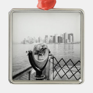 USA, NEW YORK: New York City Scenic Viewer Metal Ornament