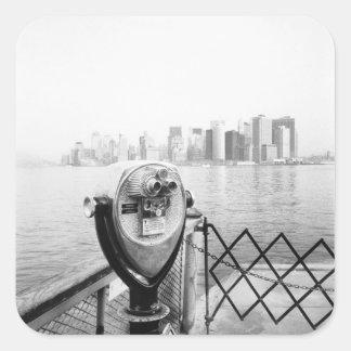 USA, NEW YORK: New York City Scenic Viewer Square Sticker