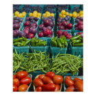 USA, New York State, New York, Vegetables and Poster