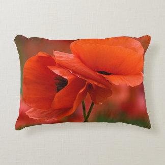 USA, North Carolina. Close-up of poppy Decorative Pillow