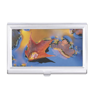 USA, Northeast, Maple Leaf in Reflection Case For Business Cards