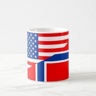 usa norway country half flag america symbol coffee mug
