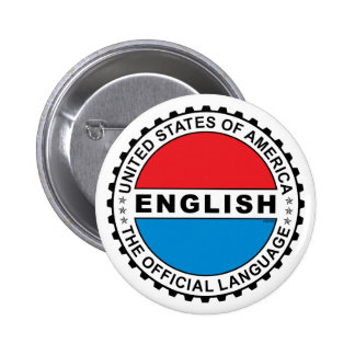 USA Official Language 2 Inch Round Button