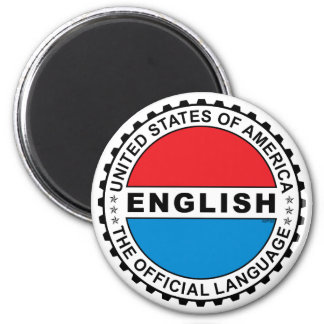 USA Official Language 2 Inch Round Magnet